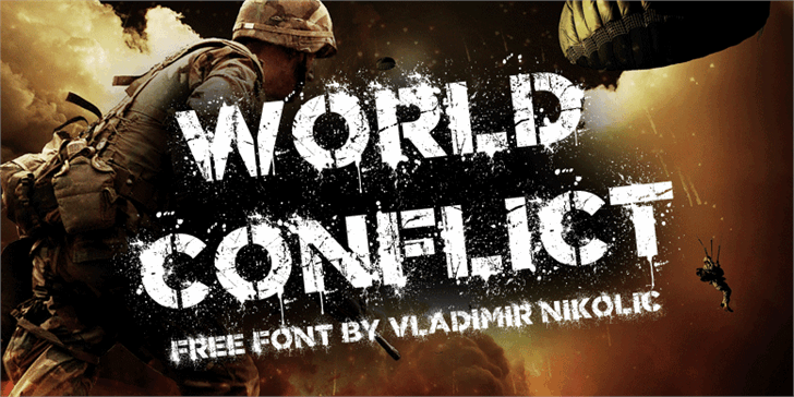 World Conflict font by Vladimir Nikolic