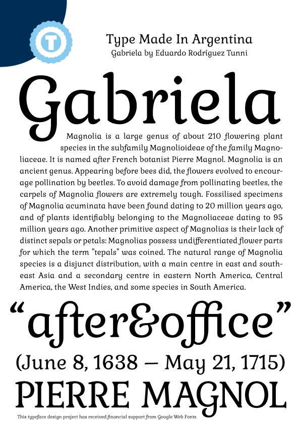 Image for Gabriela font