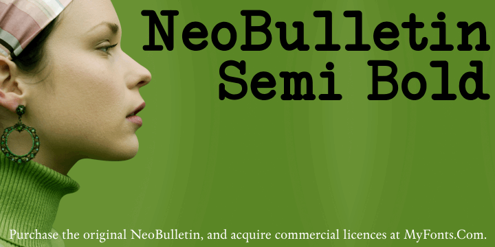 NeoBulletin Semi Bold font by Intellecta Design