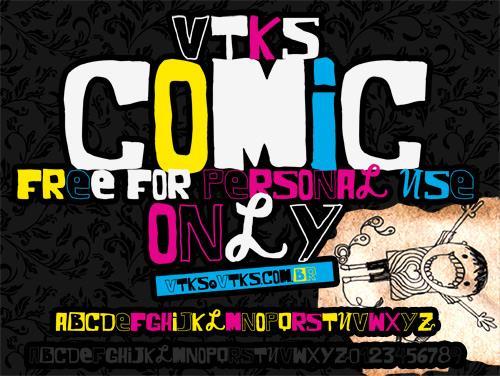 Image for VTKS COMIC font