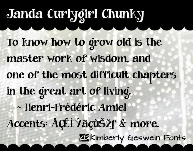 Image for Janda Curlygirl Chunky font