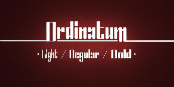 Ordinatum font by Måns Grebäck