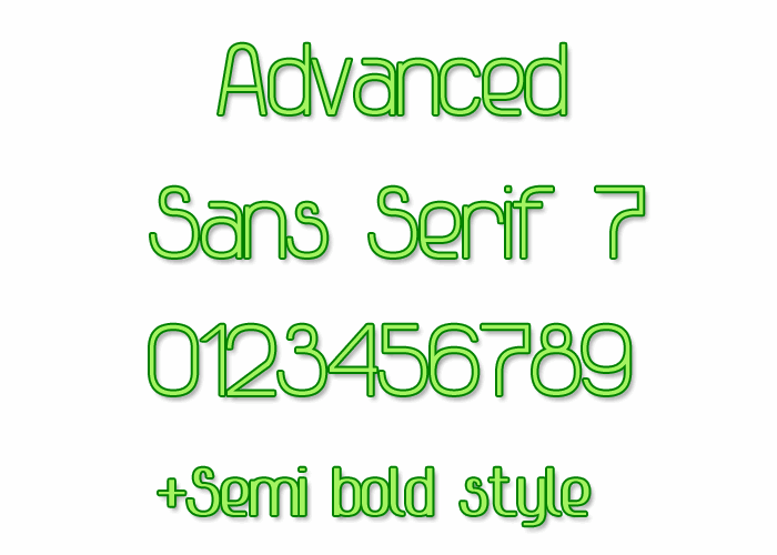 Image for Advanced Sans Serif 7 font