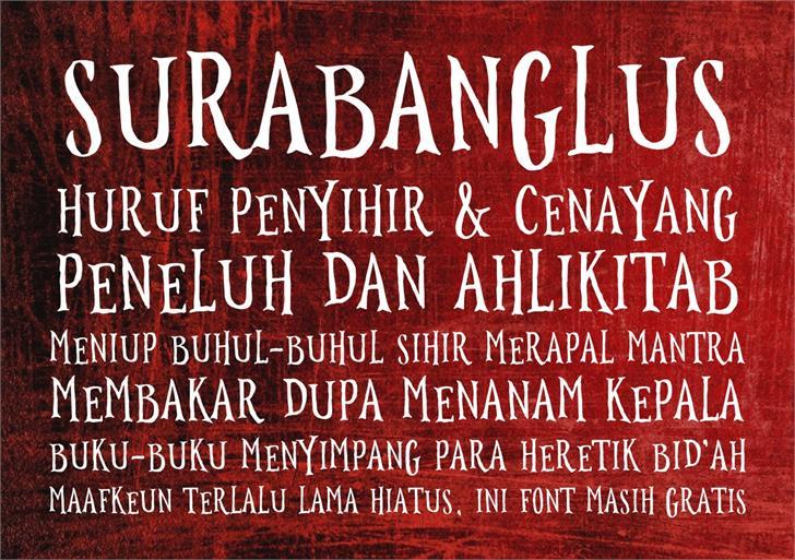 Image for Surabanglus font