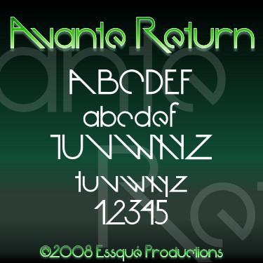 Avante Return font by Essqué Productions