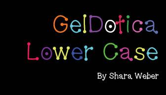 Image for GelDoticalowercase font