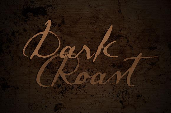 Dark Roast font by Brittney Murphy Design