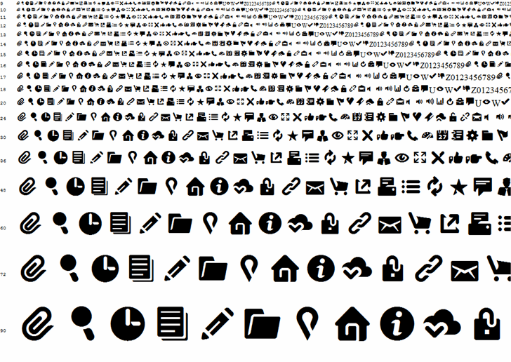 Image for Breezi Icon Set font