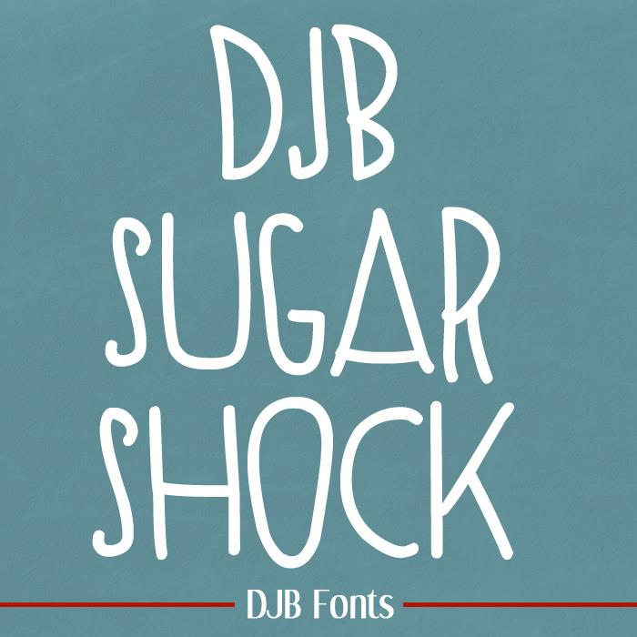 SUGAR SHOCK font by Darcy Baldwin Fonts