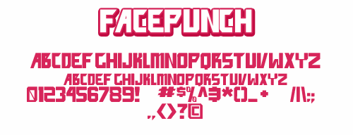 Image for facepunch font
