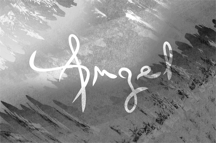 Angel font by Rémi Godefroid