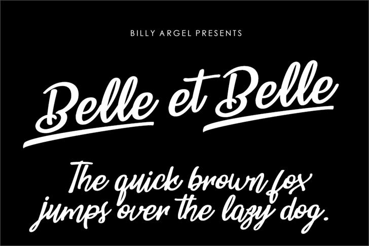 Belle et Belle Personal Use font by Billy Argel