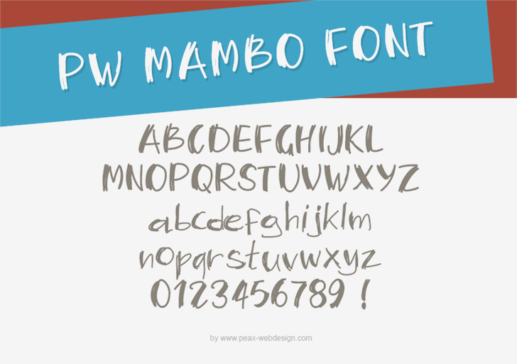 PWMambo font by Peax Webdesign
