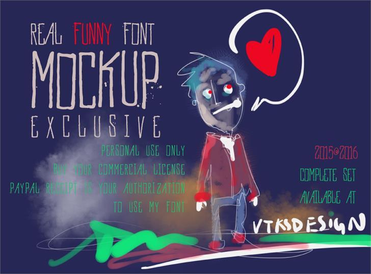 Image for Vtks MockUp font