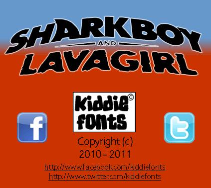 Image for SHARKBOY & lavagirl font