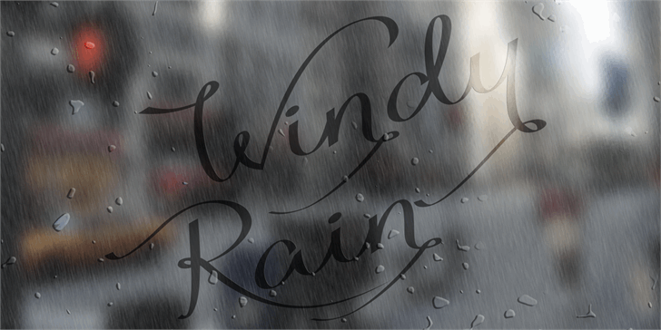 Image for Windy Rain Demo font