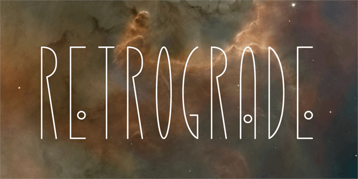 Retrograde font by Matchbook Press