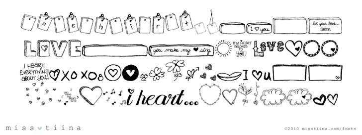 MTF i heart Sketches font by Miss Tiina
