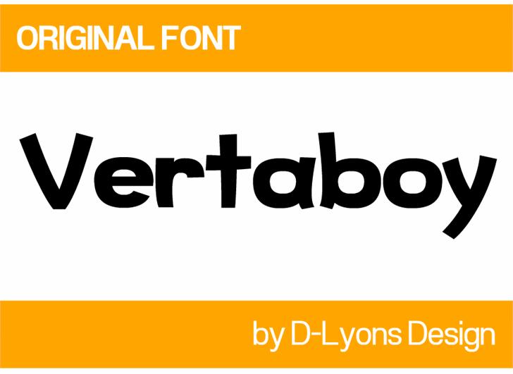 Image for Vertaboy font