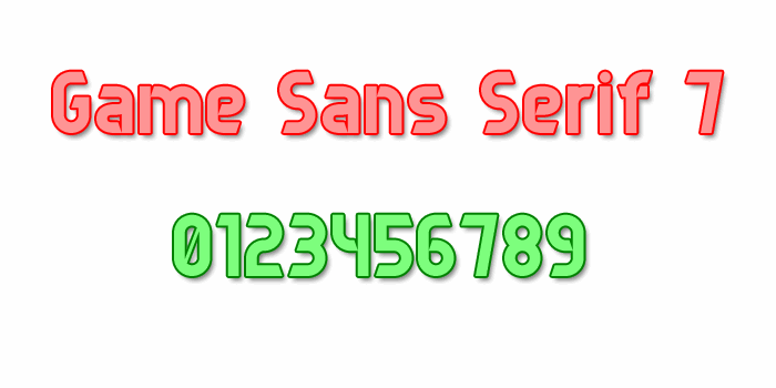Image for Game Sans Serif 7 font