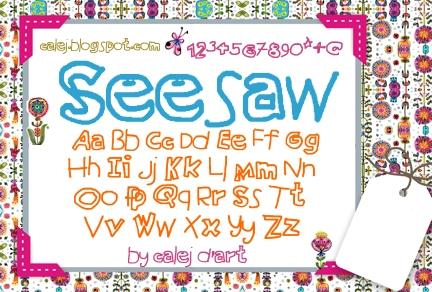 Image for Seesaw font