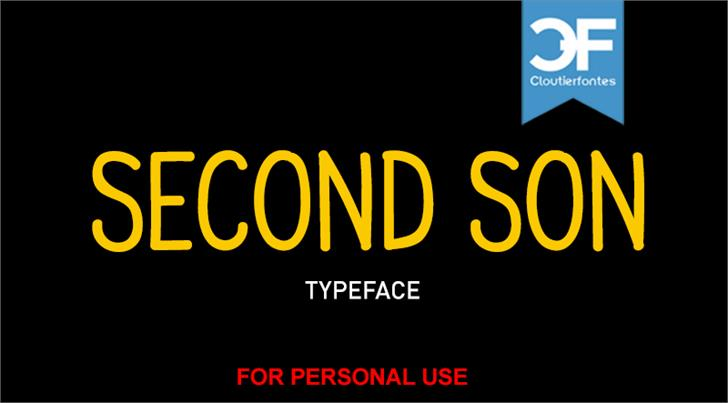 CF Second Son PERSONAL font by CloutierFontes