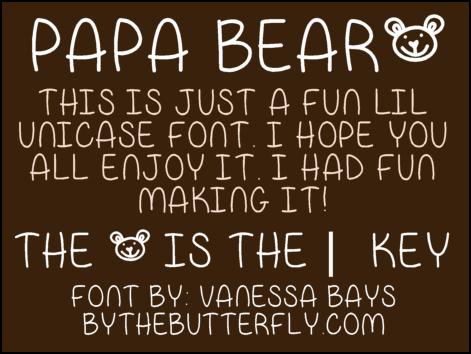 Image for Papa Bear font