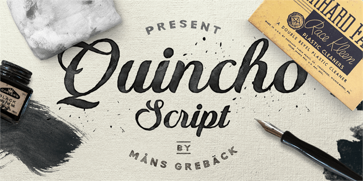 Image for Quincho Script PERSONAL USE font