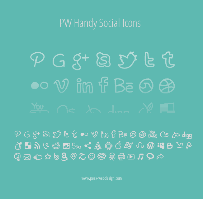 Image for PWHandySocialIcons font