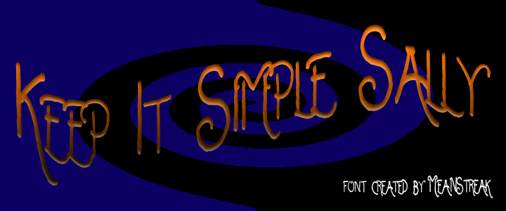 Image for Keep It Simple Sally font