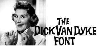Image for Dick Van Dyke font