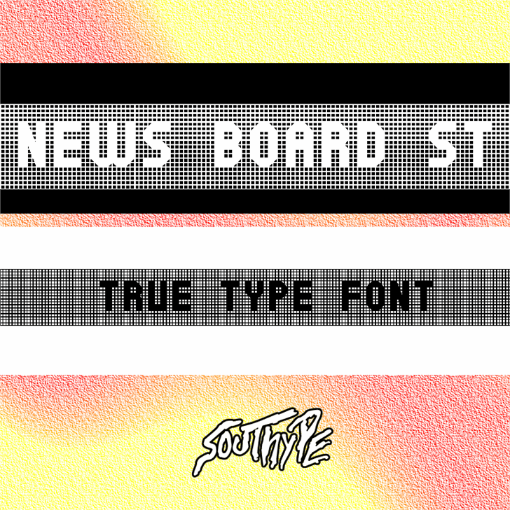 Image for News Board St font