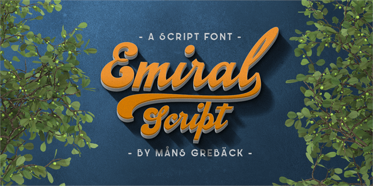 Image for Emiral Script PERSONAL USE font