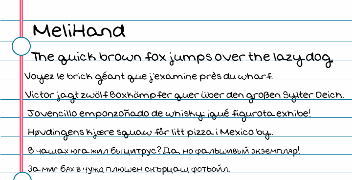 Image for MeliHand font