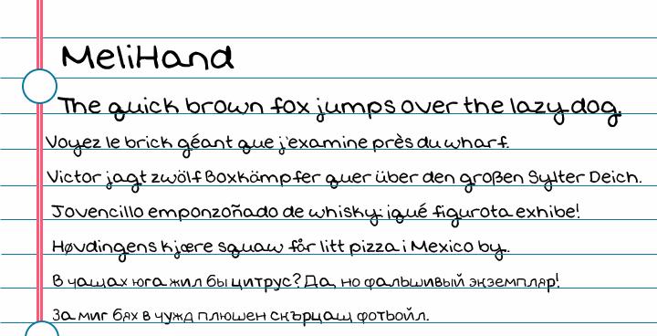 MeliHand font by melifonts