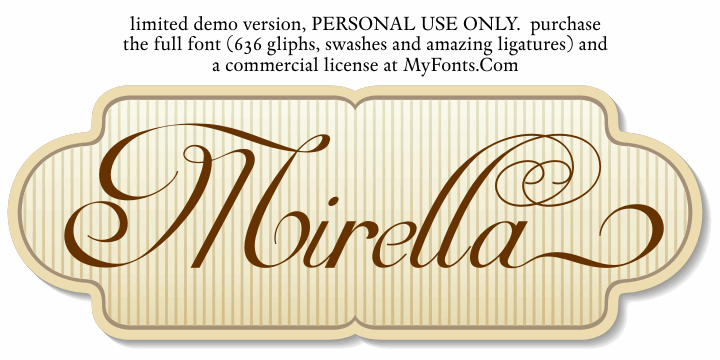 Mirella Script Limited Free Ver font by Intellecta Design