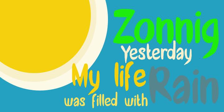 Image for DK Zonnig font