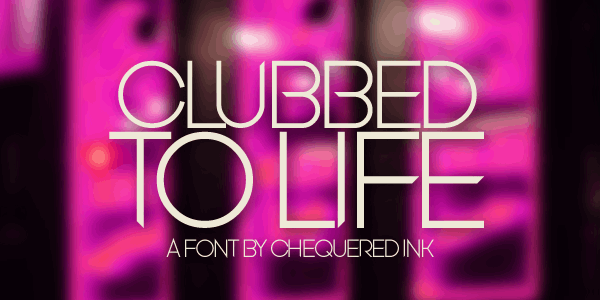 Clubbed to Life font by Chequered Ink