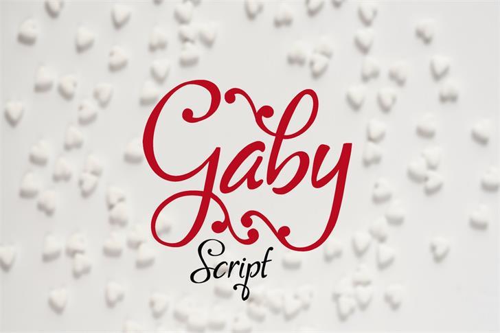 Gaby font by Eva Barabasne Olasz