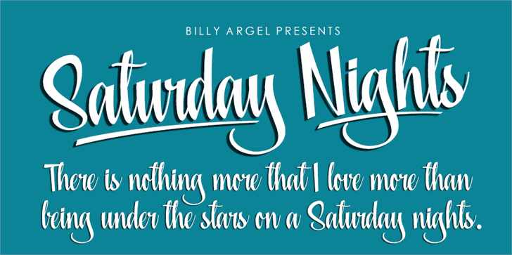Saturday Nights Personal Use font by Billy Argel