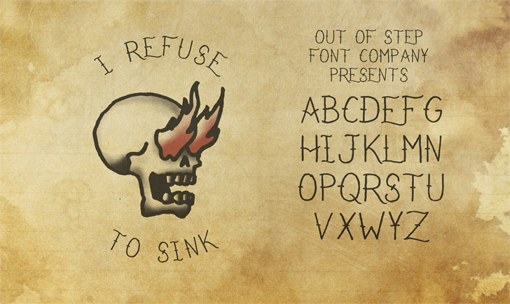 Image for I Refuse To Sink font