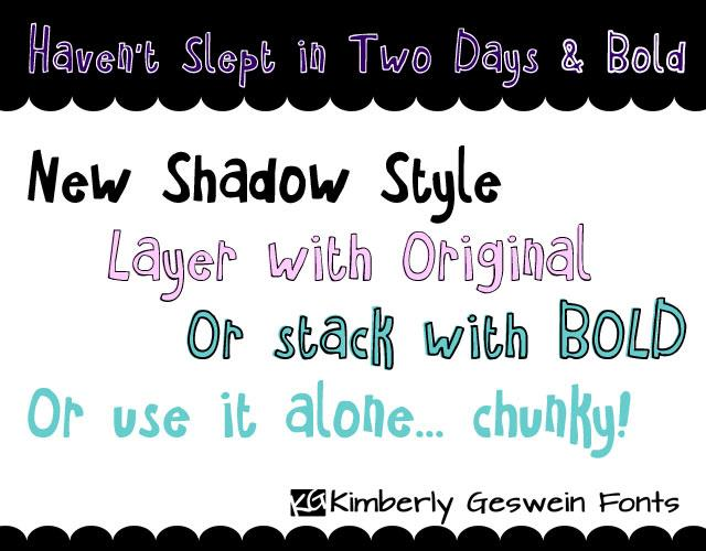 Image for Haven't Slept in Two Days font