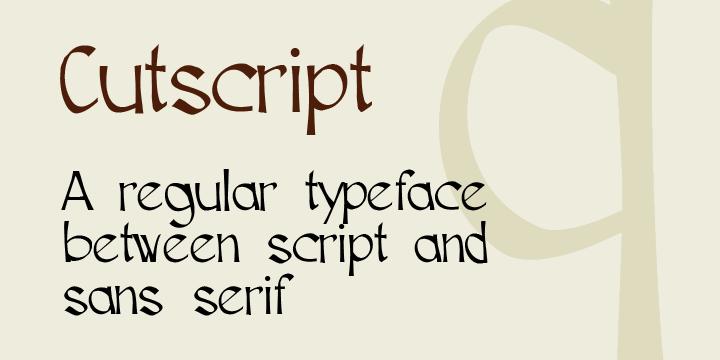 Cutscript font by Måns Grebäck