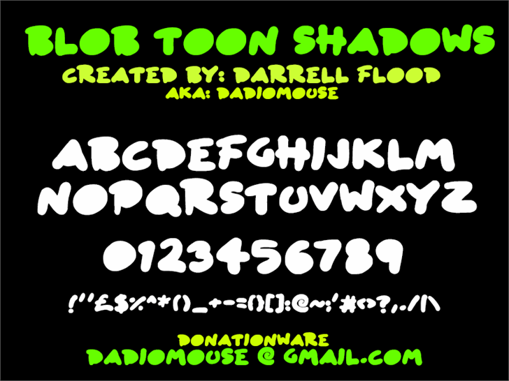 Image for Blob Toon Shadows font