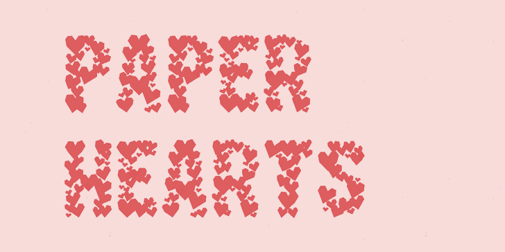 Image for Paper Hearts font