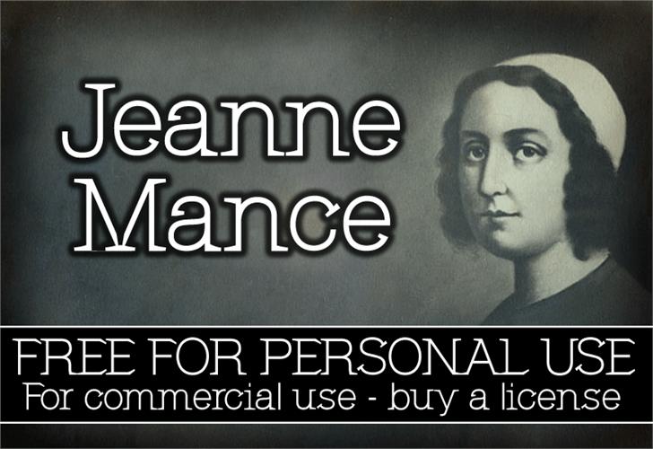 Image for CF Jeanne Mance font
