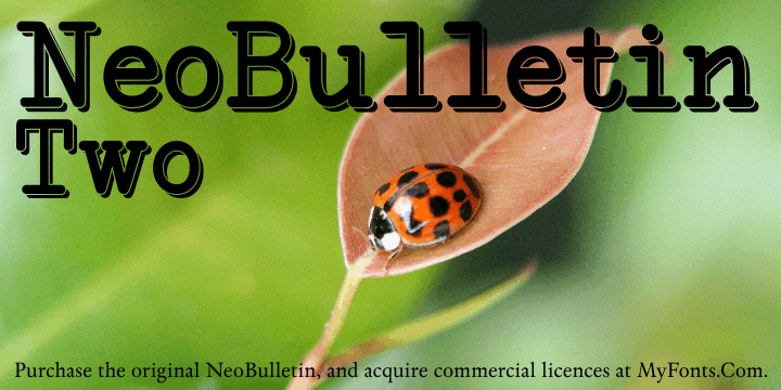 Image for NeoBulletin Two font