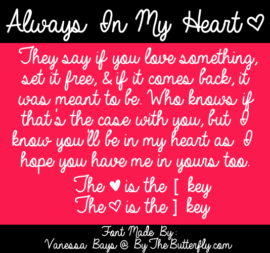 Image for Always In My Heart font