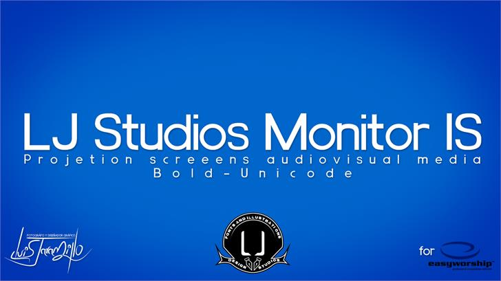 LJ Studios Monitor Large IS font by LJ Design Studios