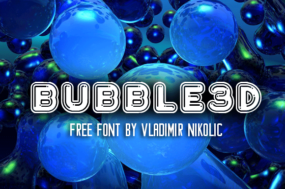 Image for Bubble3D font